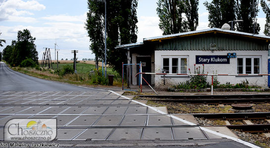 przejazd kolejowy w Starym Klukomiu