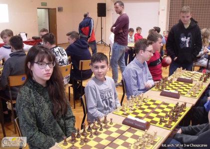 ekspia SP nr 3 w Choszcznie podczas zawodów szachowych