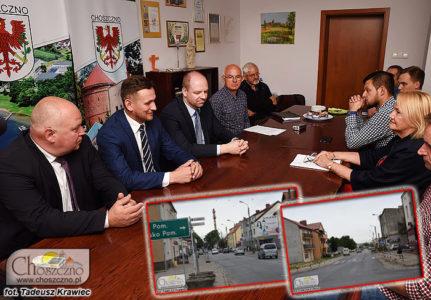spotaknie w sprawie przebudowy dróg Jagiełły i Drawieńskiej