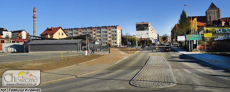 Na zdjęciu znajduje się nowo wyremontowana ul. Stargardzka