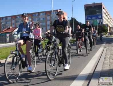 rowerzyści uczestniczący w Choszczeńskim Dniu bez Samochodu 2019