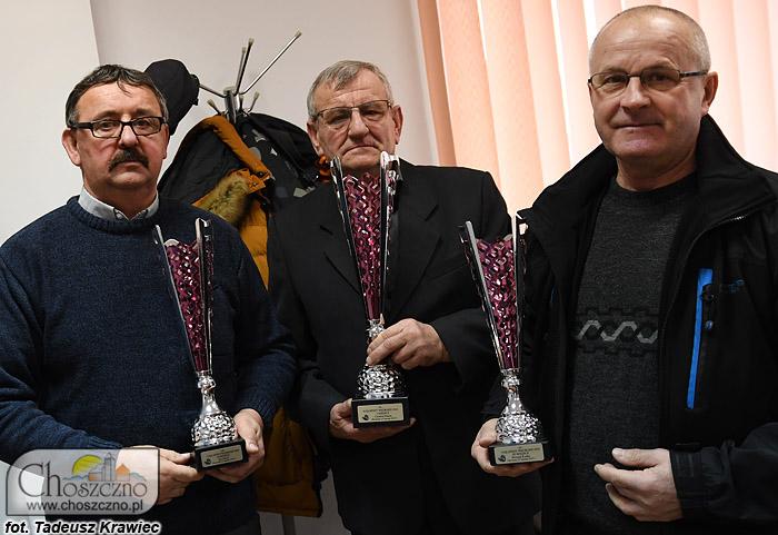 """trójka najlepszych wędkarzy w rywalizacji na """"Najelpszego wędkarza 2018"""""""