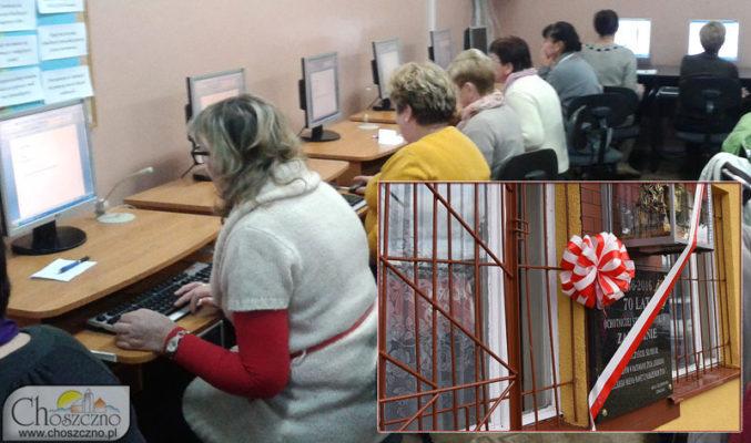 mieszkanki Zamęcina podczas zajęć komputerowych