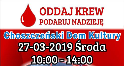 plakat akcji poboru krwi