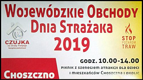 plakat obchodów Dnia Strażaka