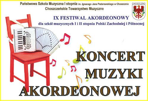 plakat koncertu akordeonowego