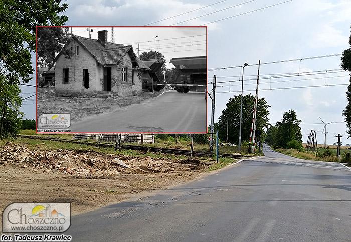 przed i po rozbiórce domku dróżnika
