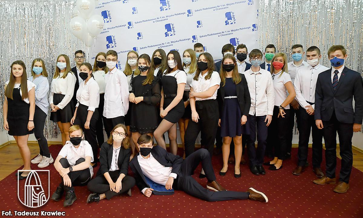 Ósmoklasiści ze Szkoły podstawowej nr 1 w Choszcznie