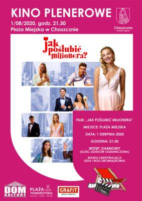 """plakat filmowy """"Jak poślubić milionera"""""""