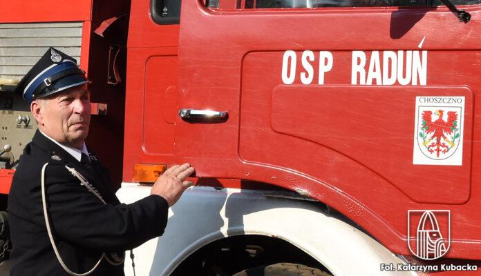 Józef Andryszczak - pożegnanie ze służbą w OSP Raduń