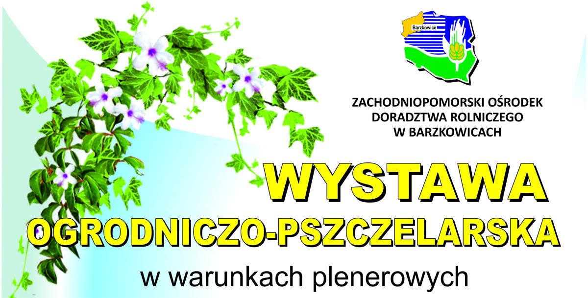 plakat informujący o wystawie ogrodniczo-pszczelarskiej