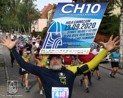 biegacze podczas udziału w Choszczeńskiej Dziesiątce