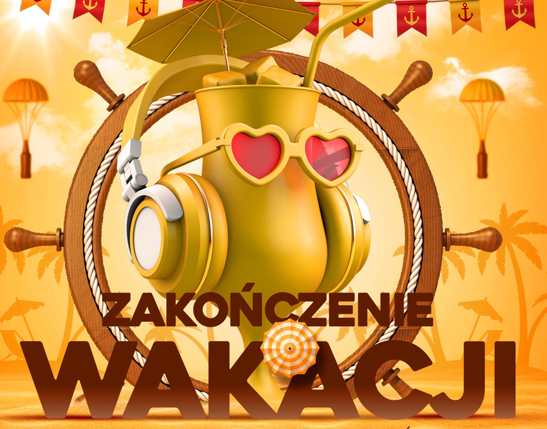 plakat inforujący o imprezie z okazji zakończenia walacji