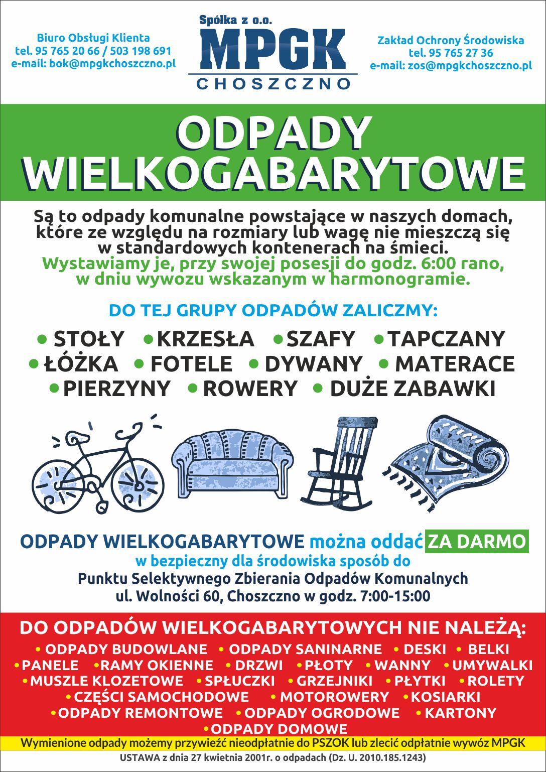 plakat odpady wielkogabartyowe