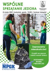 Plakat akcji sprzątania jeziora